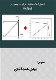 دانلود کتاب تحلیل اجزا محدود خرپای دو بعدی با MATLAB