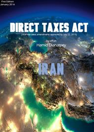 دانلود کتاب Direct Taxes Act Iran 2015