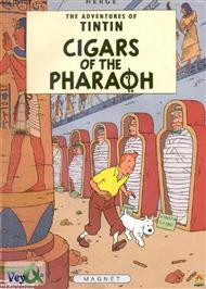 دانلود کتاب Tintin Cigars of the pharaoh - تن تن و سیگارهای فرعون