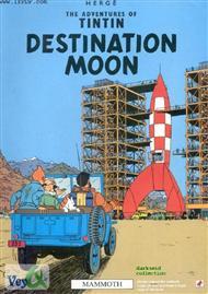 دانلود کتاب Tintin destination moon - مقصد کره ماه