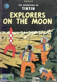 دانلود کتاب Tintin Explorers on the moon - روی ماه قدم گذاشتیم