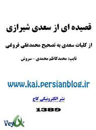 دانلود کتاب یک قصیده از سعدی شیرازی